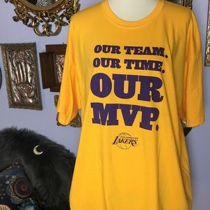 Los Angeles Lakers Our team Our Time Our MVP T XL